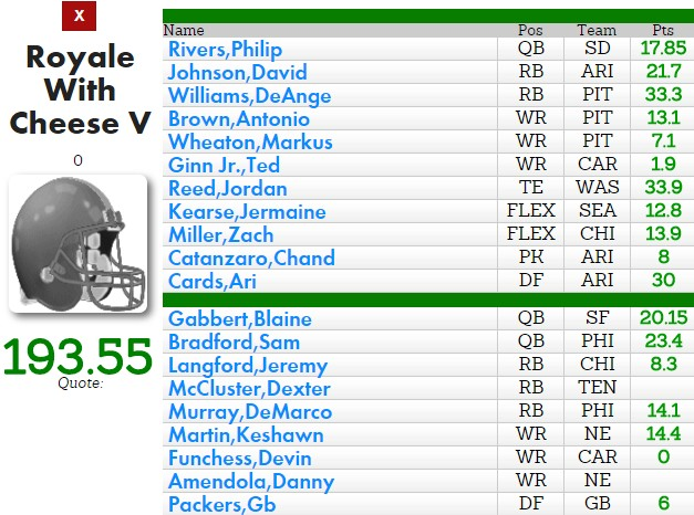 depth chart packers